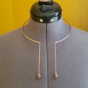 Metal collar necklaces